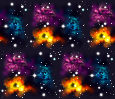 Space Multiples fabric by jadegordon on Spoonflower - custom fabric