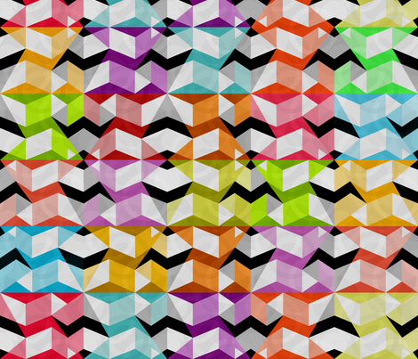 Stumbling Blocks fabric by glimmericks on Spoonflower - custom fabric