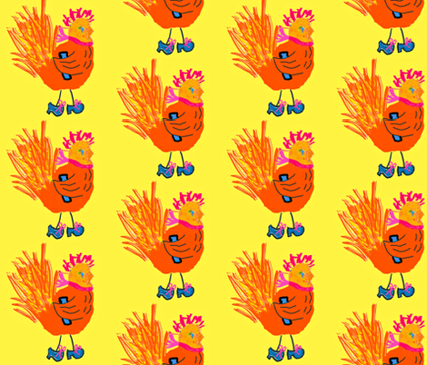 Hen with Attitude fabric by anniedeb on Spoonflower - custom fabric