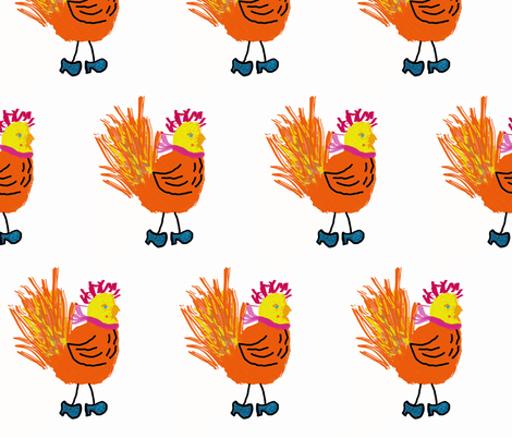 Mad as a Wet Hen fabric by anniedeb on Spoonflower - custom fabric