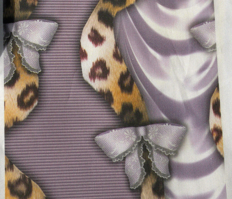 Leopards'n'Lace - Bows - Purple