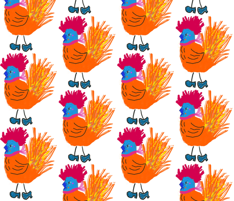 Empowered Chick in Heels fabric by anniedeb on Spoonflower - custom fabric