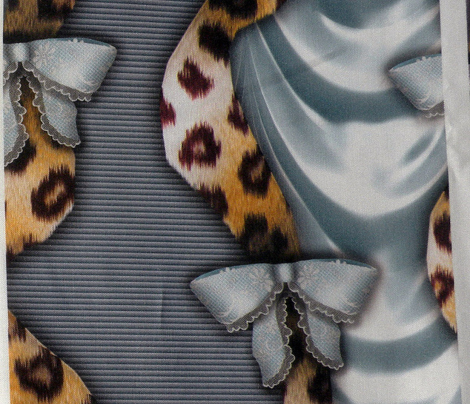 Leopards'n'Lace - Bows - Blue