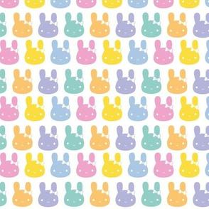 Pastel Rainbow Bunny Bows