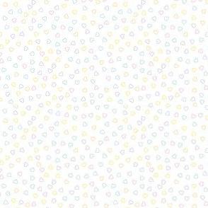Tiny Pastel Ditsy Hearts