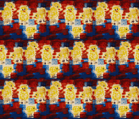 Chicks Go to the Movies fabric by anniedeb on Spoonflower - custom fabric