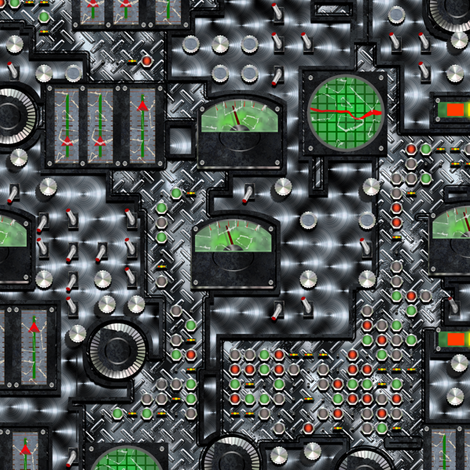 SteamControls - Steel fabric by bonnie_phantasm on Spoonflower - custom fabric