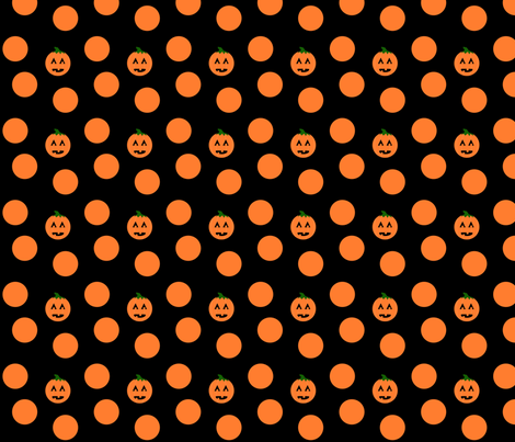 Pumkin Dots fabric by sewbabysew on Spoonflower - custom fabric