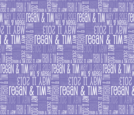 Personalised Name Fabric - Purple fabric by shelleymade on Spoonflower - custom fabric
