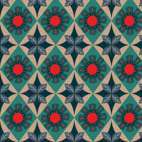 Annie's flower fabric by bippidiiboppidii on Spoonflower - custom fabric
