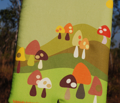 iPad/journal bag for mushroom lovers