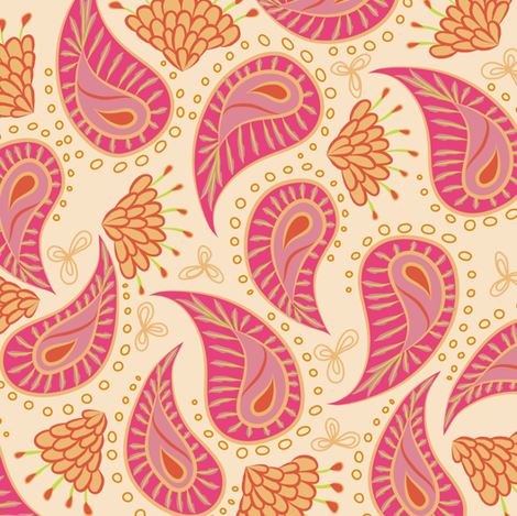 paisley - fruit salad fabric by fox&lark on Spoonflower - custom fabric