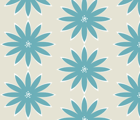 Dahlia- Lagoon fabric by allisajacobs on Spoonflower - custom fabric