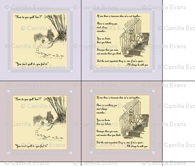 16 x 16 Winnie the Pooh cushion covers