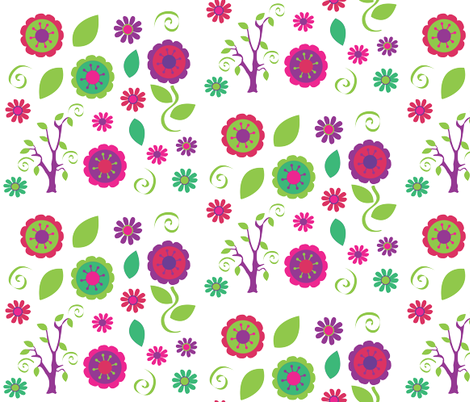 flower fun fabric by amy_frances_designs on Spoonflower - custom fabric