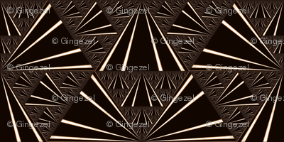 Black and Brown Fan Fractal © Gingezel™