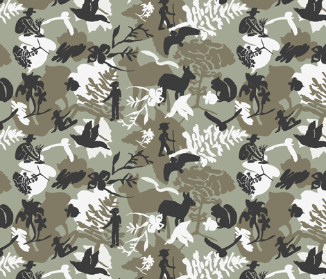 Nature Icons Camouflage fabric by chickendream on Spoonflower - custom fabric