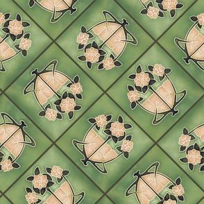 floral shields