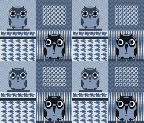 owls 1 fabric by isabella_asratyan on Spoonflower - custom fabric