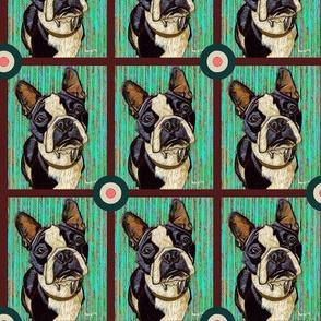 Boston Terrier Bullseye