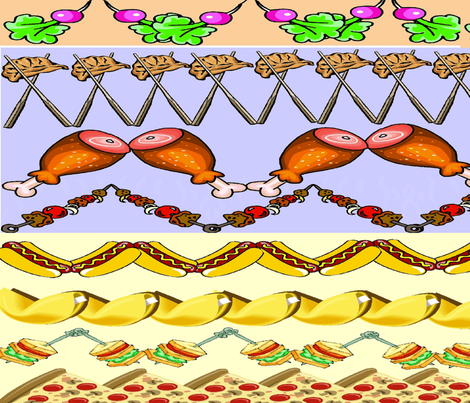 FOOD DELIGHT ZIGZAG fabric by bluevelvet on Spoonflower - custom fabric