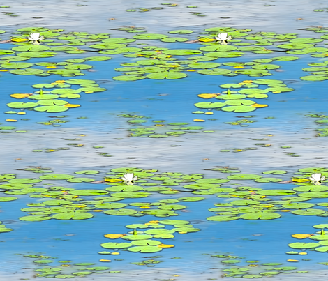 Water Lily fabric by the_fretful_porpentine on Spoonflower - custom fabric