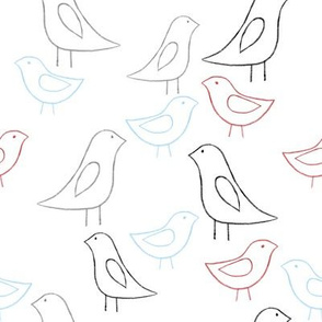 lovebird outlines color white