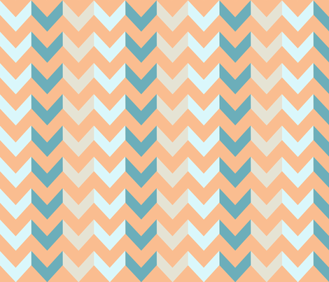 Multi Chevron - Glow fabric by allisajacobs on Spoonflower - custom fabric