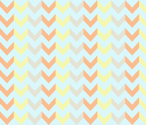 Multi Chevron - Sunrise  fabric by allisajacobs on Spoonflower - custom fabric