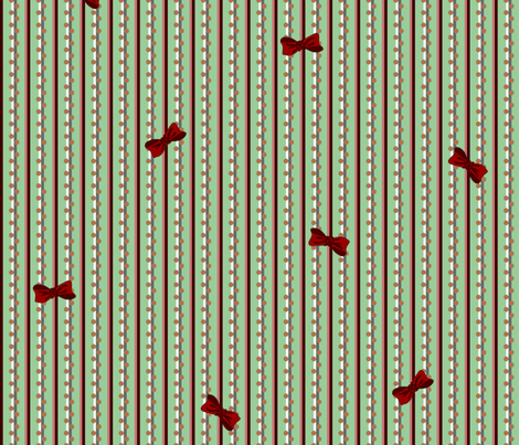 christmas_stripe large fabric by glimmericks on Spoonflower - custom fabric