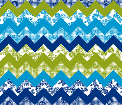GeoQuilt fabric by yellowstudio on Spoonflower - custom fabric