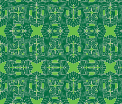 cactus cactus green on green fabric by sydama on Spoonflower - custom fabric