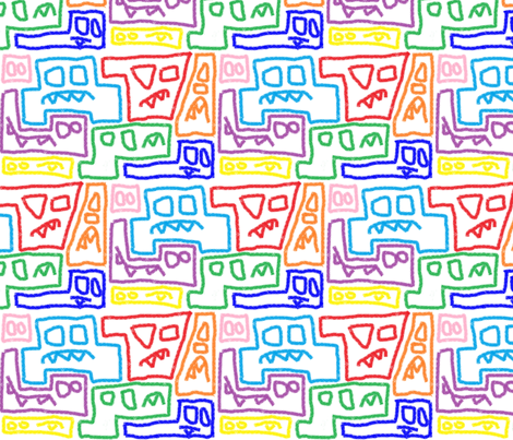 Angry Monster Erasers fabric by millyish on Spoonflower - custom fabric