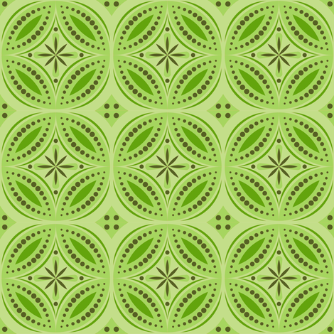 Moroccan Tiles (Yellow/Green) fabric by shannonmac on Spoonflower - custom fabric