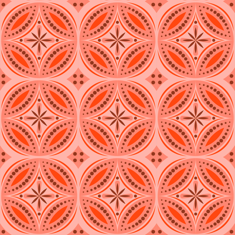 Moroccan Tiles (Red/Orange) fabric by shannonmac on Spoonflower - custom fabric