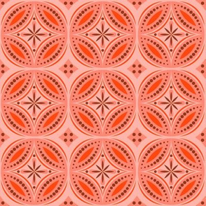 Moroccan Tiles (Red/Orange)