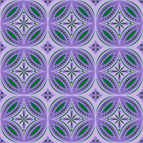 Moroccan Tiles (Violet/Green) fabric by shannonmac on Spoonflower - custom fabric