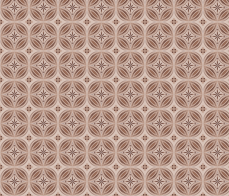 Moroccan Tiles (Brown) fabric by shannonmac on Spoonflower - custom fabric