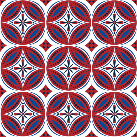 Moroccan Tiles (Red/White/Blue)