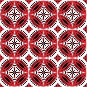 Moroccan Tiles (Red/Black/White)