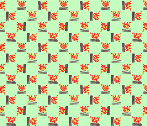 campfires fabric by the_bearded_lady on Spoonflower - custom fabric
