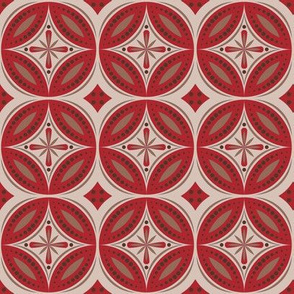 Moroccan Tiles (Red/Beige)