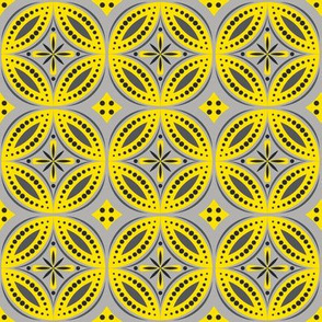 Moroccan Tiles (Yellow/Gray)