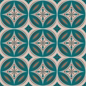 Moroccan Tiles (Blue-Green/Beige)