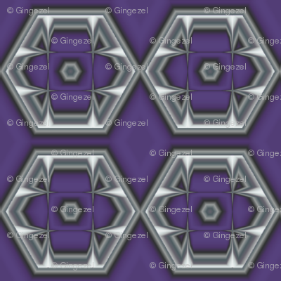 Plum Hexagons © Gingezel™ 2012