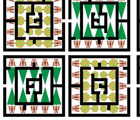 maze fabric by veerapfaffli on Spoonflower - custom fabric