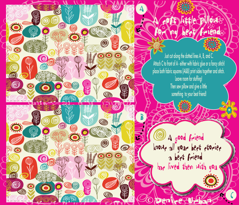 For my very best friend! fabric by deeniespoonflower on Spoonflower - custom fabric