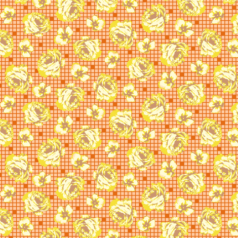 ditsy rose - yellow fabric by cheyanne_sammons on Spoonflower - custom fabric