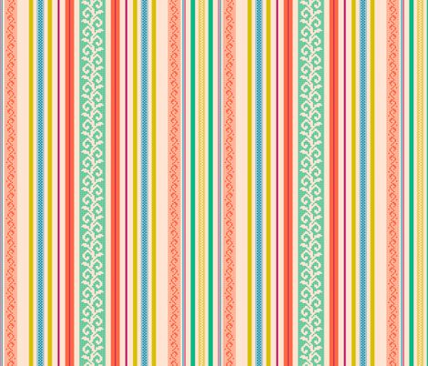 folk stripe - yellow fabric by cheyanne_sammons on Spoonflower - custom fabric