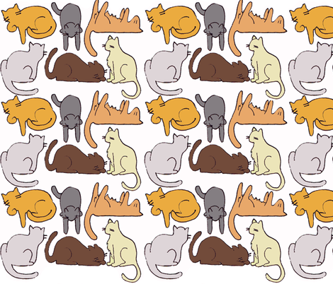 Crafty Cats fabric by graceful on Spoonflower - custom fabric